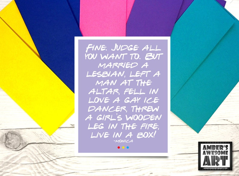 Live In A Box Card Friends Tv Show Card Funny Friends Etsy
