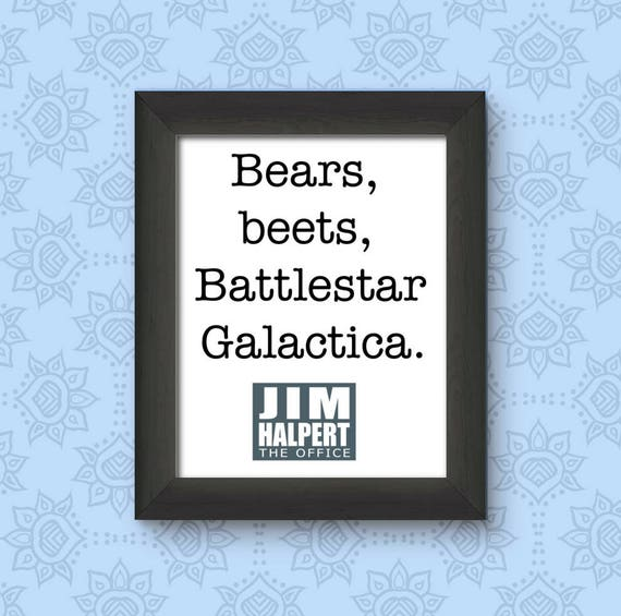 Jim Halpert Quotes | The Office Printable Battlestar Galactica Jim Halpert Quote Etsy