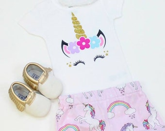 Unicorn Top baby//toddler//youth