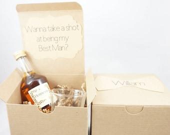 Groomsmen Proposal Box With Shot Glass