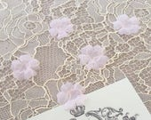 Pink bridal fabric flowers, bridal fabric, flowers, hair pins, hair accessories, bridal accessories, wedding accessories P0032