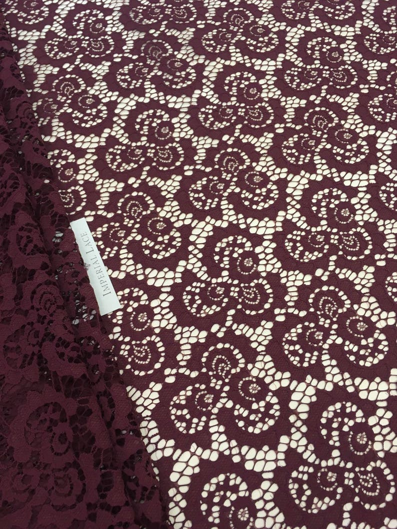 Bridal lace Red lace fabric Veil lace French Lace Alencon Lace K00589 Burgundy lace fabric Wedding Lace Lingerie Lace Red Lace