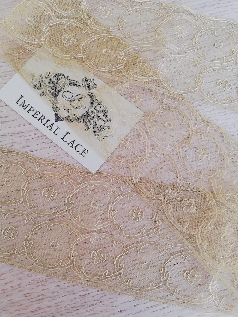 White Lace Garter lace Veil lace Wedding Lace Bridal Gown lace Chantilly Lace Lingerie Lace MK00387 Gold Lace Trim French Lace