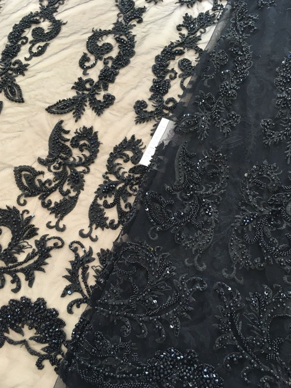 3D black lace fabric Chantilly Lace Bridal lace Lingerie Lace French lace,Embroidered lace Black Lace Veil lace Wedding Lace