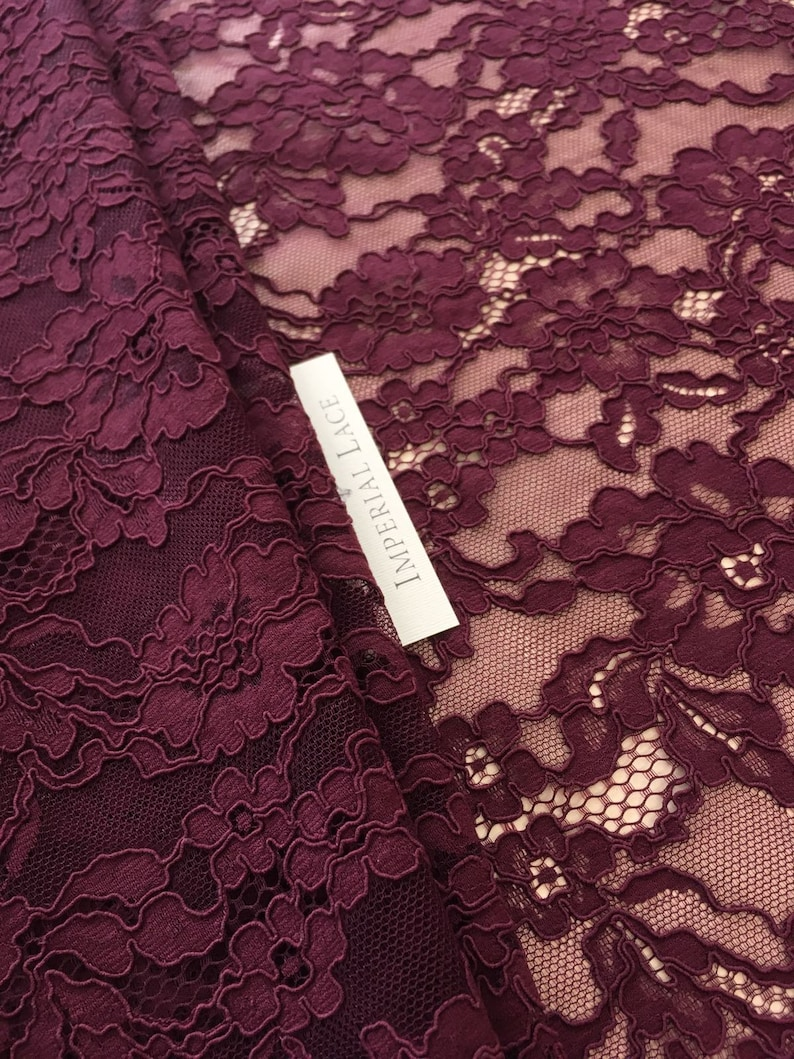 Veil lace Lilac lace fabric Chantilly Lace K00526 Lingerie Lace Wedding Lace Embroidered lace purple Lace French Lace Bridal lace