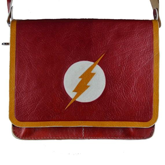 8037cc640eb Flash Geek Comic Book   Messenger Bag   Etsy