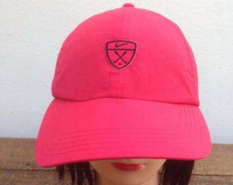 Nike Golf Cap Pink Color Adjustable Hats One Size Fits All d2d5405e67a1