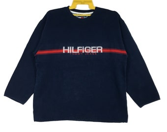 147d7df7 Vintage 90s Tommy Hilfiger Sweatshirt Spell Out Tommy Jeans Crewneck Hip  Hop Fashion Sweater Size Large