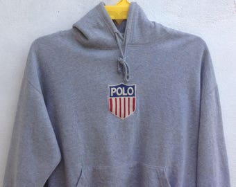 6c50763ef23 Vintage Polo By Ralph Lauren K Swiss Hoodie Sweatshirts Logo Embroidered  Large Size