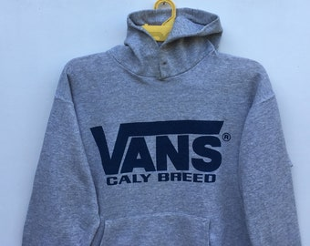 04fd28ce60 Vintage 90s VANS Hoodie Sweatshirt Caly Breed California Skateboarding Hip  Hop Stretwear Sweater Size Large