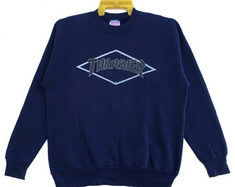 bcb04cf1198e Vintage 90s THRASHER Sweatshirt Crewneck Magazine Spell Out Big Logo Skate  Skateboard Streetwear Hip Hop Size Medium