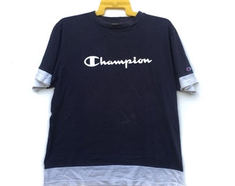 f57d3397 Vintage 90s Champion Tshirt | Champion Big Spell Out Shortsleeve Tee