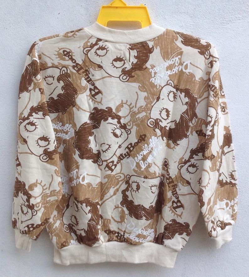 Betty Boop Over Print Sweater Long Sleeve Vintage Betty Boop Sweatshirts