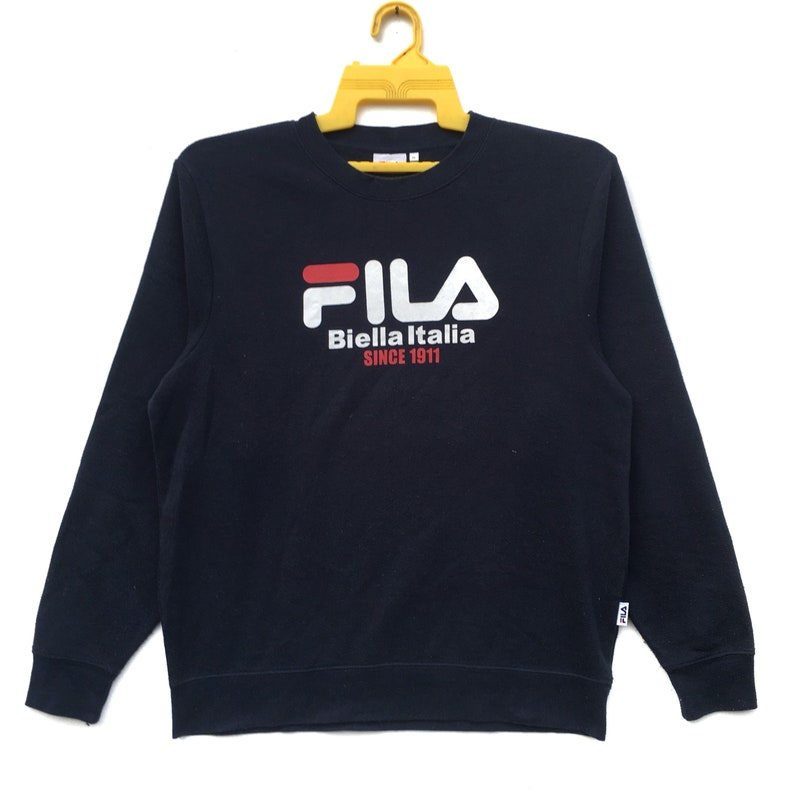 59e2020fb40a Rare Fila Sweatshirt Longsleeve Fila Big Logo Spell Out