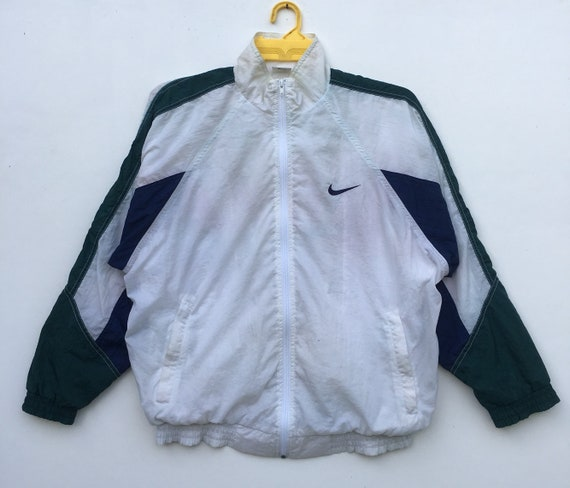 50% price 100% quality huge selection of Vintage 90s Nike Windbreaker Jacket Color Block Swoosh Small Logo Zipper  Long Sleeve Sportswear Clothing Sweater Size XLarge