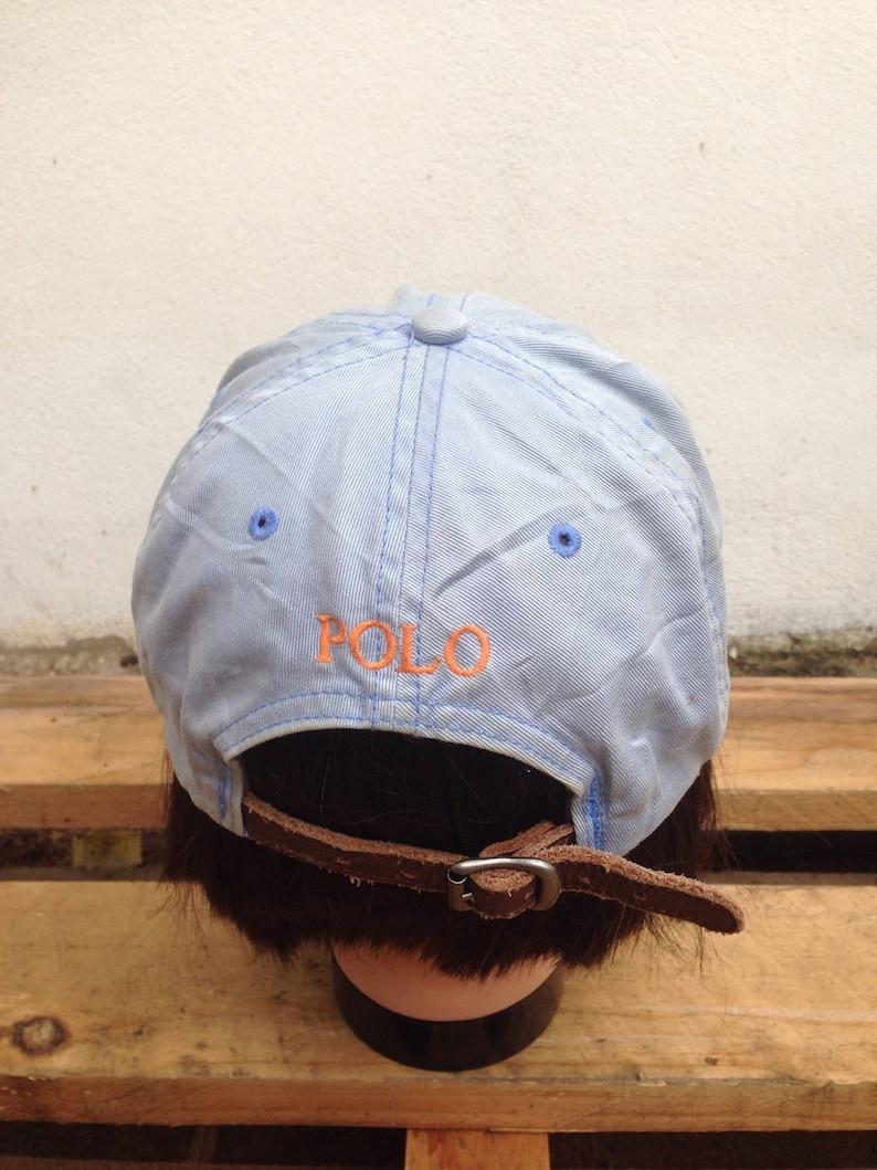 c7825cf72dbdf Vintage Polo Cap Ralph Lauren Leather Straps Small Logo