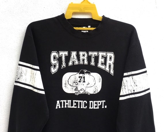 Rare!! Starter Sweatshirts Athletic Dept Spell Out