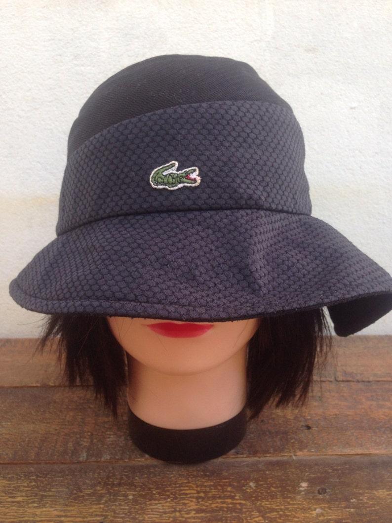 3093fb99e2c782 Vintage 90s LACOSTE Bucket Pattern Hats Fishing Bucket Hats