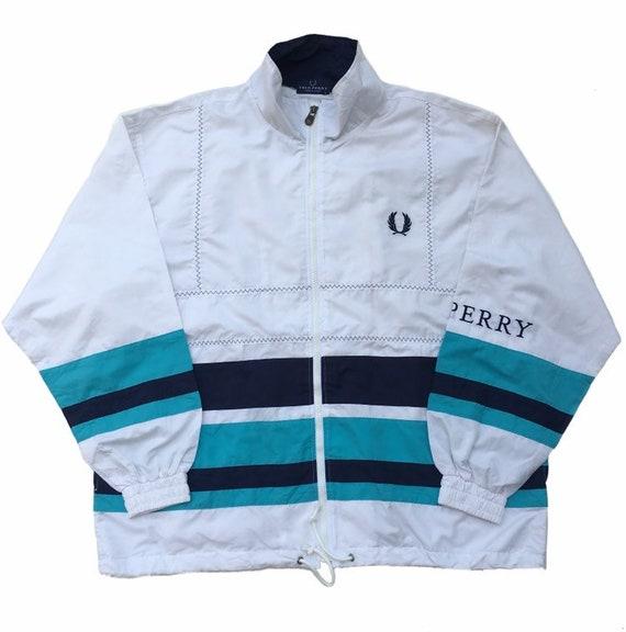 Vintage 90s FRED PERRY Windbreaker Jacket Full Zip