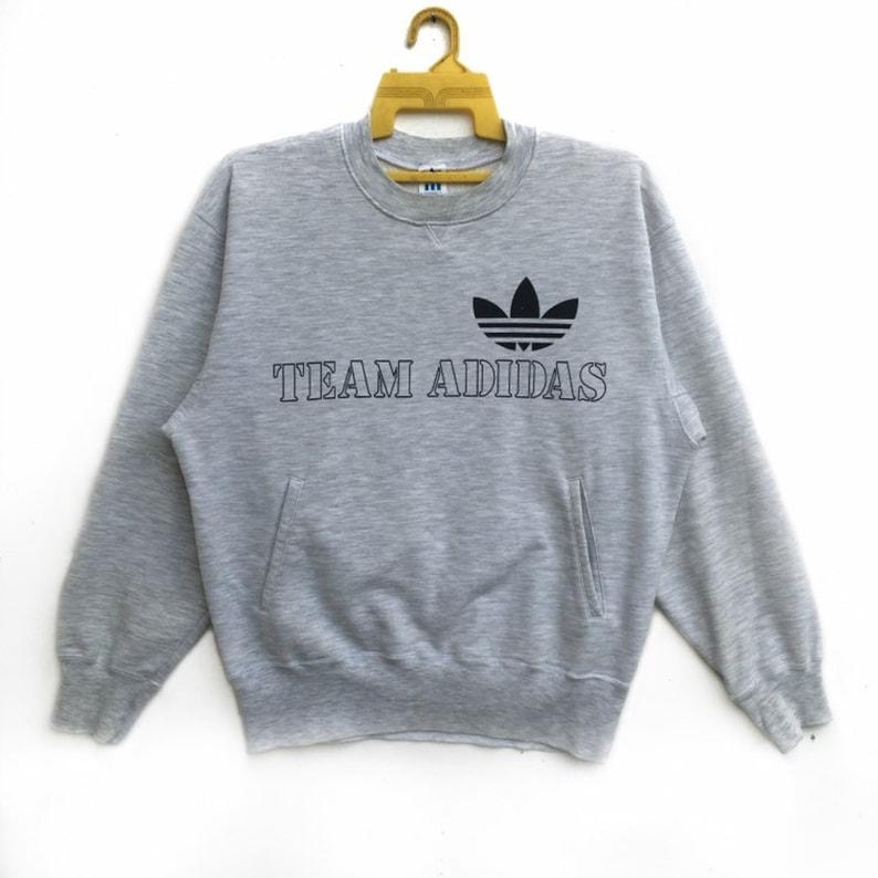 42c015497c041 Vintage 90s Team Adidas Sweatshirt | Adidas Crewneck Longsleeve | Team  Adidas Sportswear Streetwear Sweater Spellout