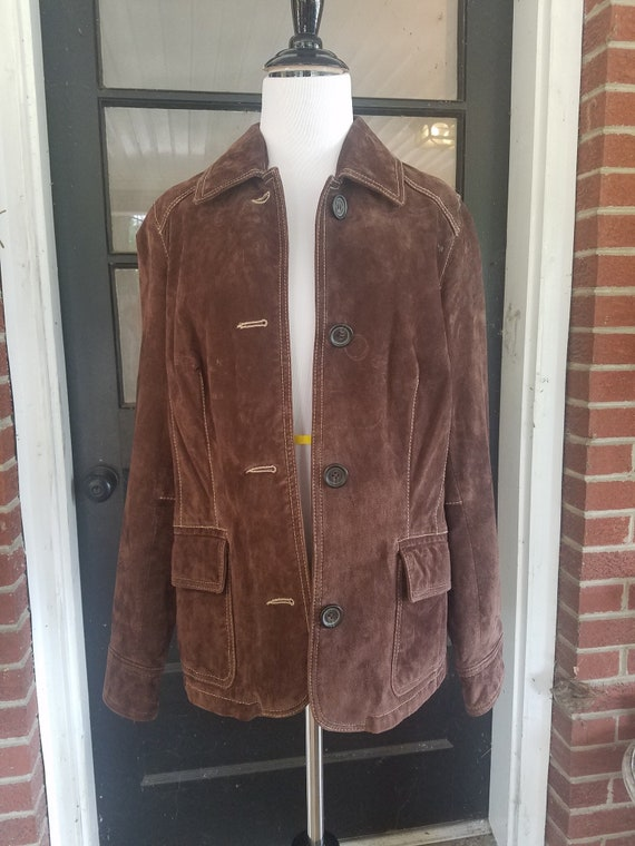 Vintage Suede Liz Claiborne Jacket - Vintage Suede
