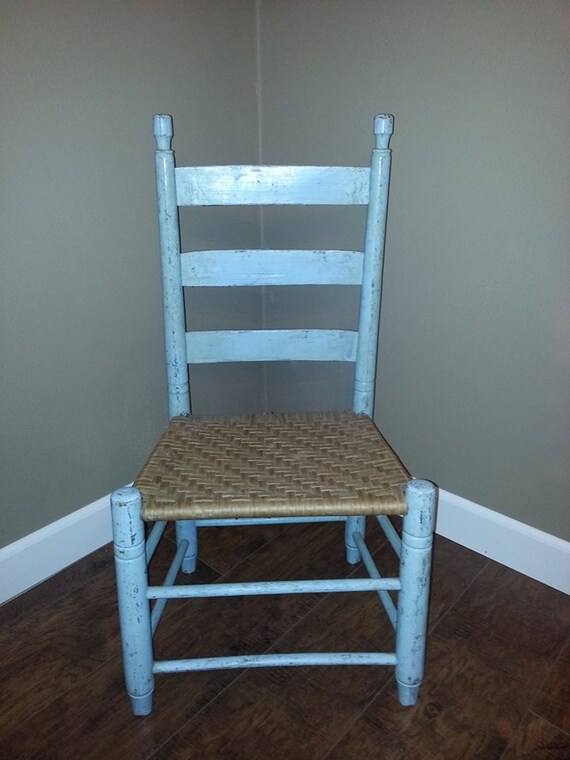Fine Ladder Back Chair Vintage Ladder Back Chair Shabby Chic Chair Cottage Chic Chair Childs Ladder Back Chair Nursery Decor Shabby Machost Co Dining Chair Design Ideas Machostcouk