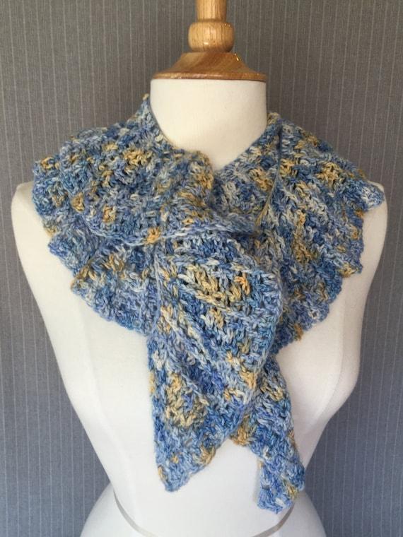 Hand Crocheted Ruffled Twirly Scarf Etsy