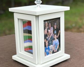 Rotating Sand Ceremony Photo Frame Set - Blended Family / Beach Wedding / Engagement gift / Unity ceremony / Rustic Wedding / Wedding Unity