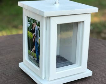 Rotating Sand Ceremony Photo Frame Box Set - Blended Family / Beach Wedding / Engagement gift / Unity ceremony / Rustic Wedding