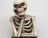 Halloween Trophy Skeleton Scariest Costume Contest LIGHTS UP Best Costume Dia De Los Muertos Skeleton Trophies Skull Halloween Decor