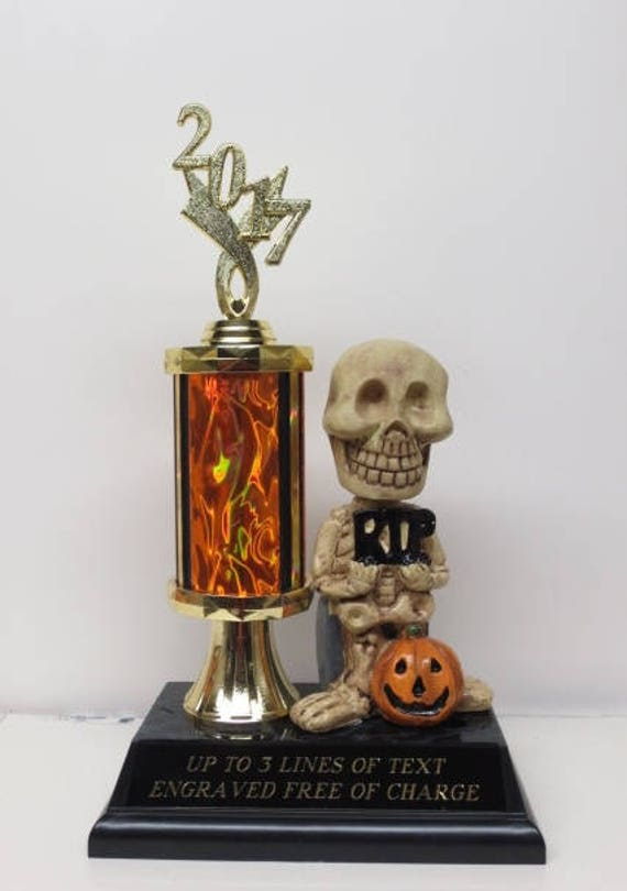 Free Post Skelton trophy best dressed Halloween