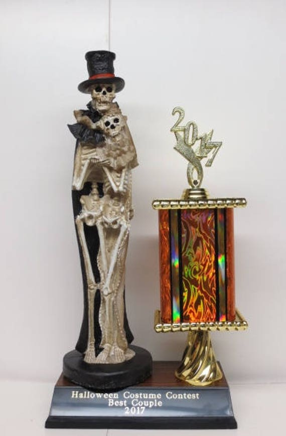 Halloween Trophy Best Couple Halloween Trophy Skeleton Couple Costume Contest Winner Dia De Los Muertos Best Couples Costume Contest