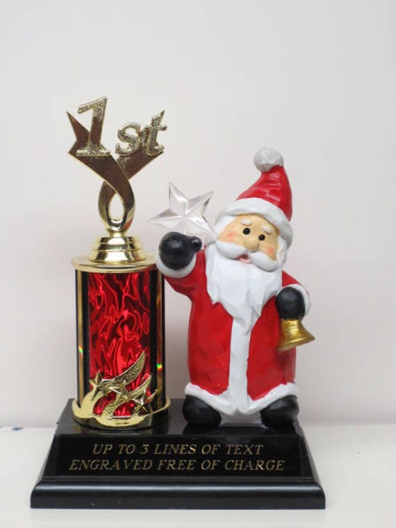 Ugliest Ugly Sweater Contest Christmas Trophy Holiday Party SANTA Award Winner Santa North Star Holiday Christmas Decor Family Competition