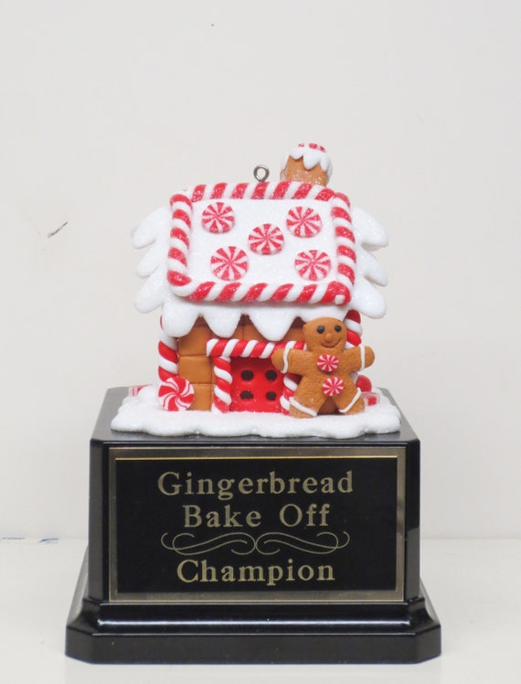 Gingerbread House Cookie Bake Off Trophy Ugly Sweater Trophy Contest Award Winner Christmas Cookie Gingerbread Man Christmas Decor