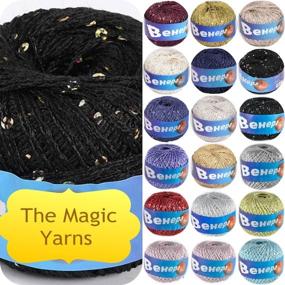 Viscose Yarn Shining Yarn Glitter Yarn Sparkle Yarn Lame Etsy