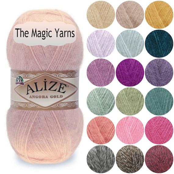 Alize Angora Gold-Mohair Wolle Vielzahl von Farben | Etsy