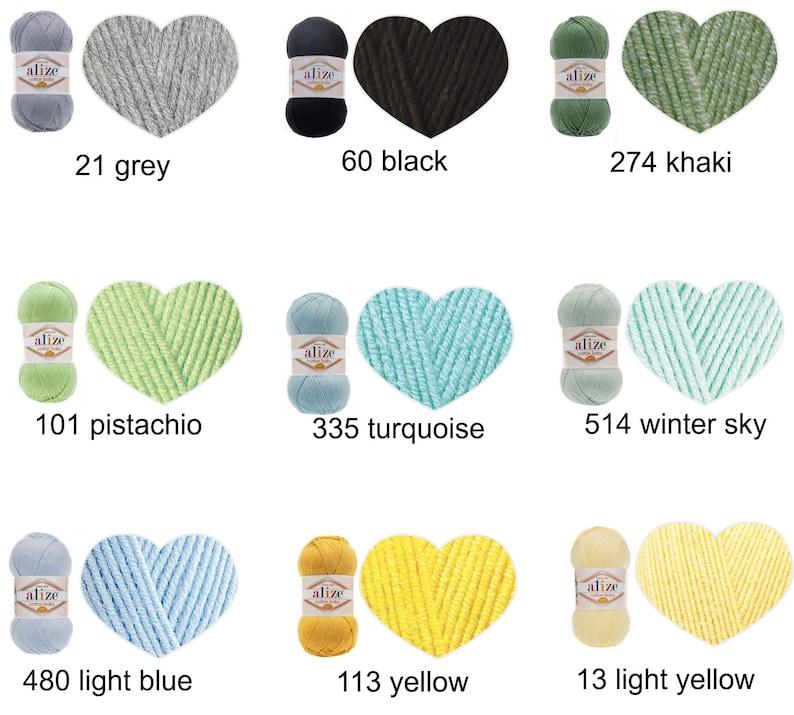 Alize COTTON BABY SOFT cotton baby yarn baby yarn baby crochet yarn baby knitting yarn dk yarn soft baby yarn Set of 5 skiens