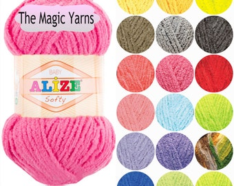 ALIZE SOFTY antibacterial micropolyester yarn, special for babies, hypoallergenic,fancy , sport, light weight, multicolored