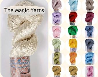 Silk yarn,viscose yarn,bright yarn,summer crochet yarn,gloss rayon yarn,crochet rayon yarn,silk yarn,crochet silky yarn, tassel
