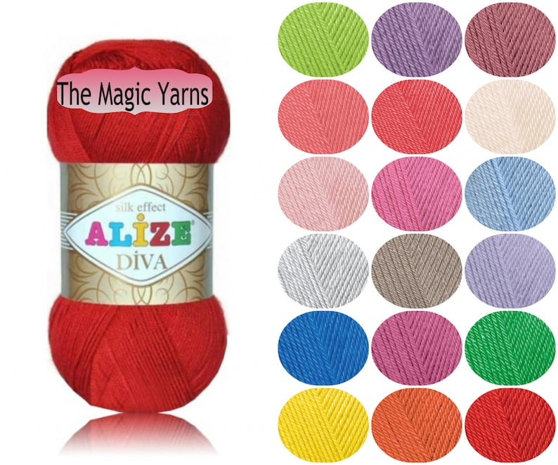 Alize Diva silk effect Microfiber acrylic yarn sport image 0