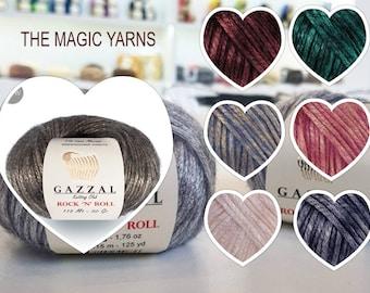 GAZAL ROCK N ROLL- Merino Wool Yarn, Bulky yarn for winter knits, Chunky yarn,
