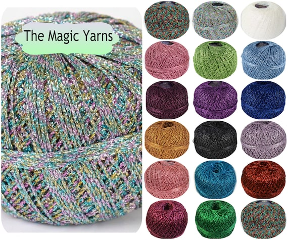 Sale Brocade Yarn Lurex Yarn Sparkle Yarngloss And Shine Etsy