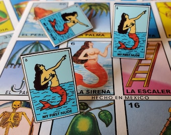 My First Nude Pin - loteria sirena/mermaid
