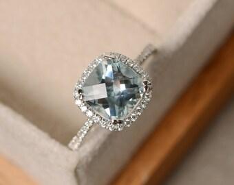 Aquamarine Engagement Ring Etsy