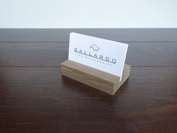 wood business card holder wood business card stand wooden etsy