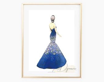 Evening Dress Sketch Etsy