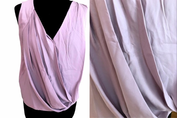DVF Silk Lilac Lavender Pastel Color Flapper Top,