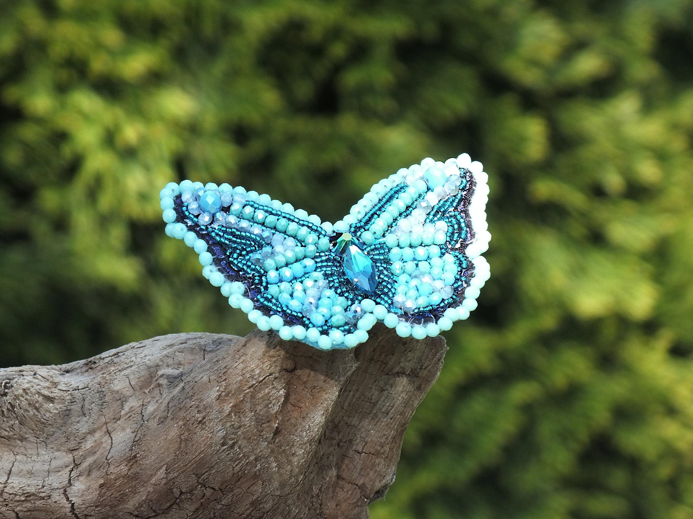 69b68112c2e Butterfly brooch Embroidery brooch Beaded butterfly jewelry ...