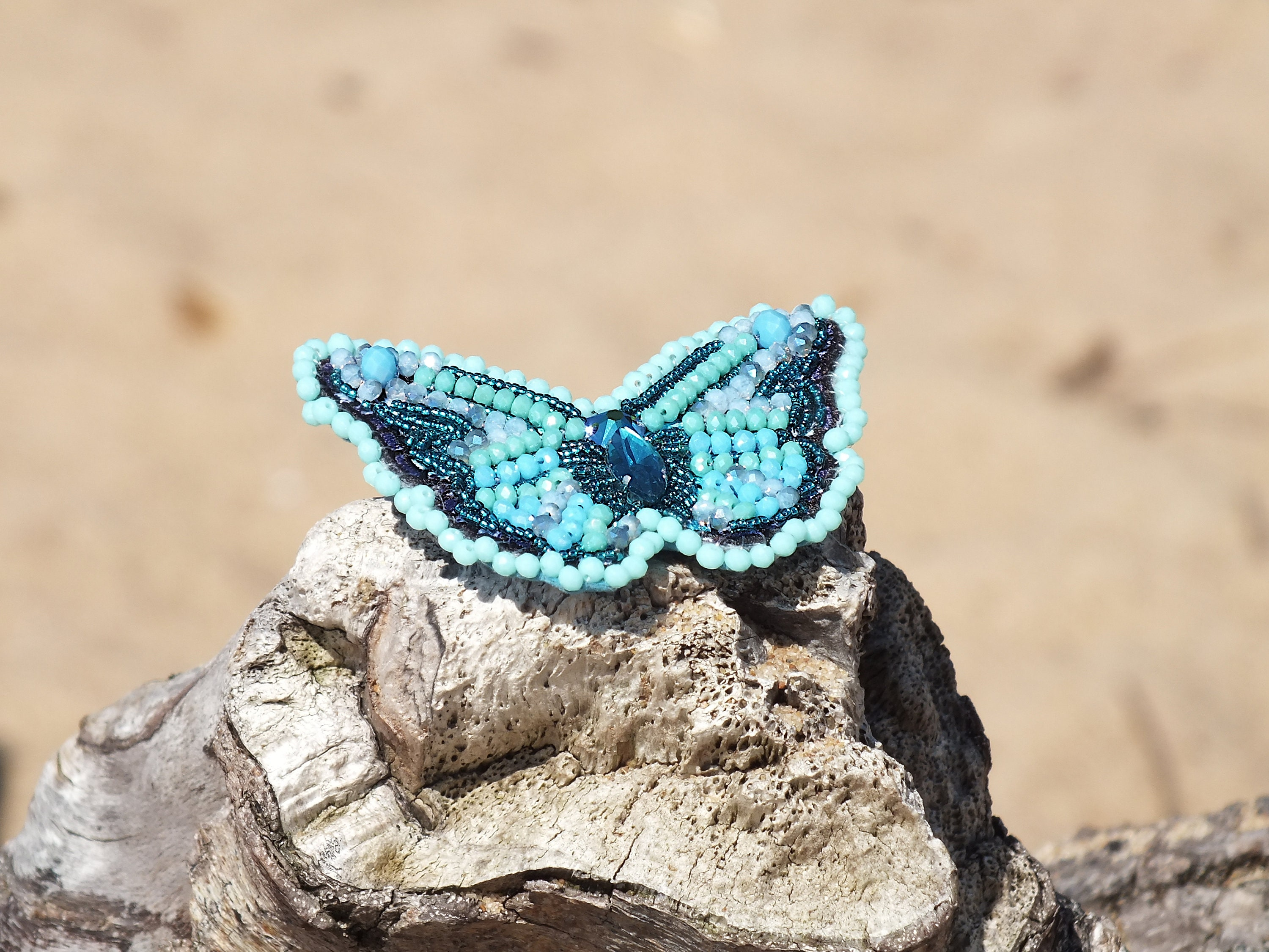 913942761c6 Butterfly brooch Embroidery brooch Beaded butterfly jewelry Swarovski  crystal Gift for wife Mother day brooch Gift for her