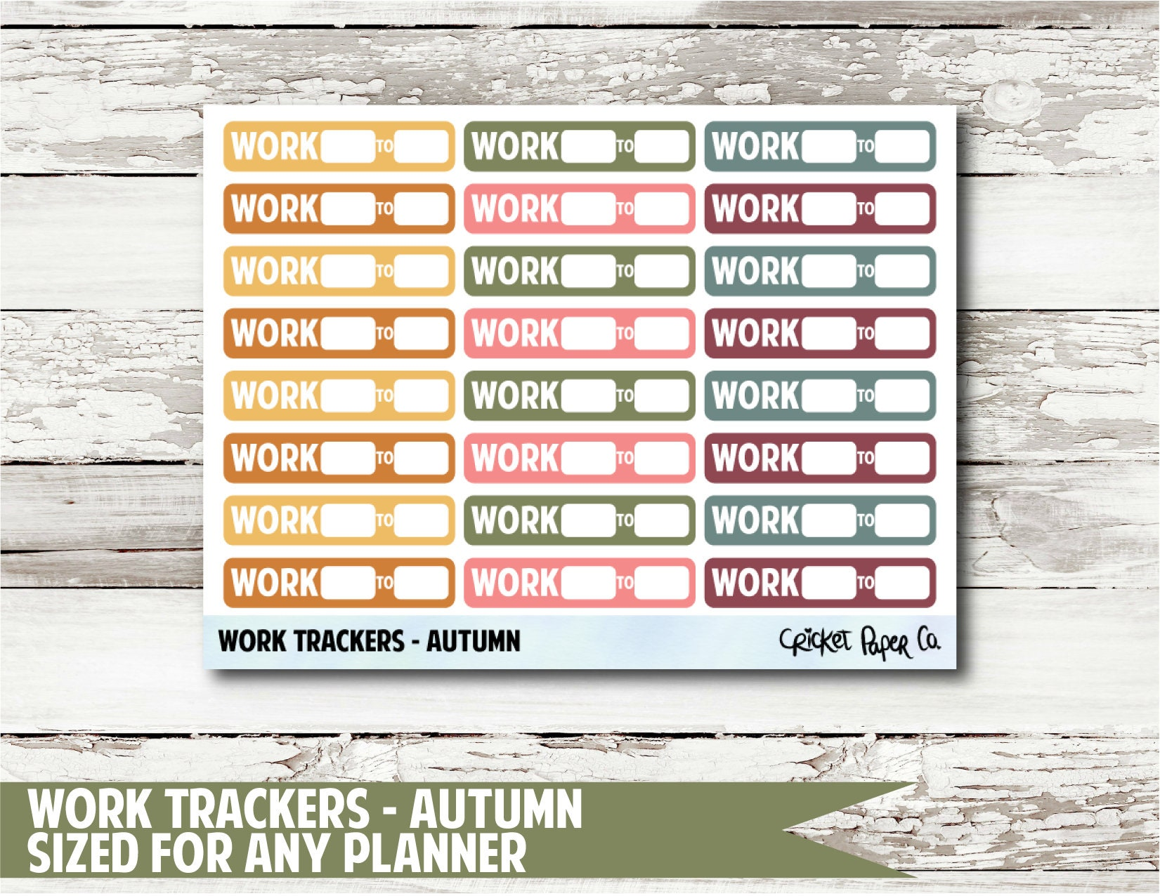 work trackers autumn planner stickers etsy